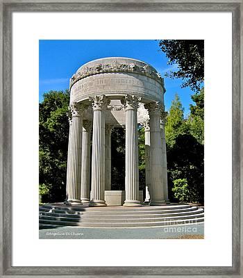 Water Temple  - California Framed Print by Italian Art