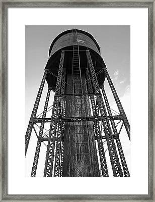 Water Tower 1 - West Yellowstone Framed Print by Steve Ohlsen