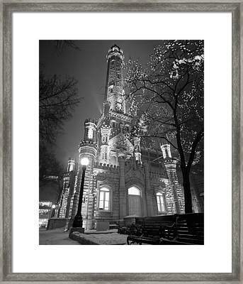Water Tower Chicago Il Framed Print by Panoramic Images
