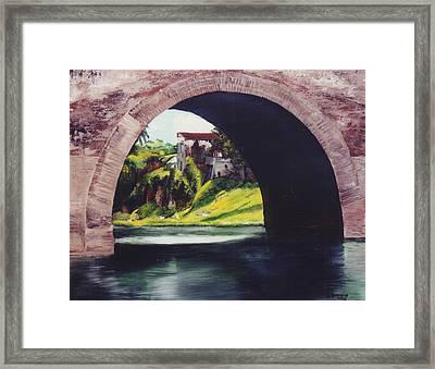 Water Under The Bridge Framed Print by Dominica Alcantara