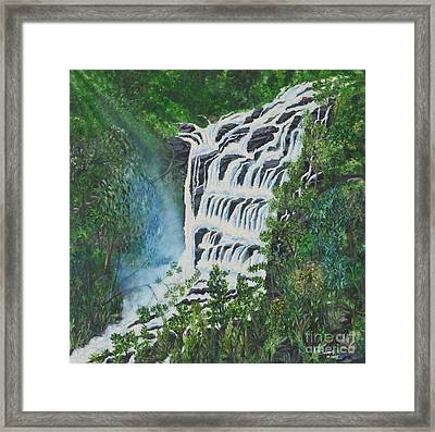 Water Framed Print by Usha Rai