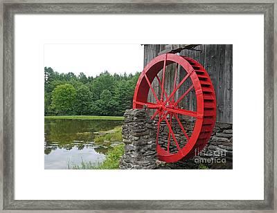 Water Wheel Vermont Framed Print by Edward Fielding
