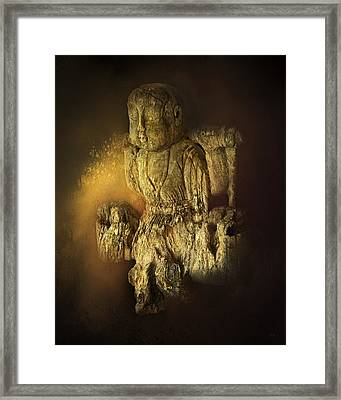 Waterboy As The Buddha Framed Print by Theresa Tahara