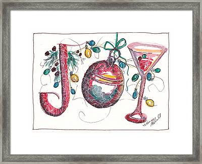 Watercolor Christmas Notecard Framed Print by Michele Hollister - for Nancy Asbell