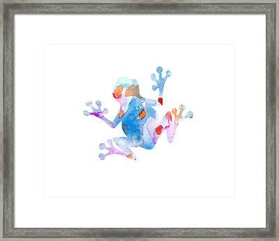 Watercolor Frog Framed Print by Nursery Art