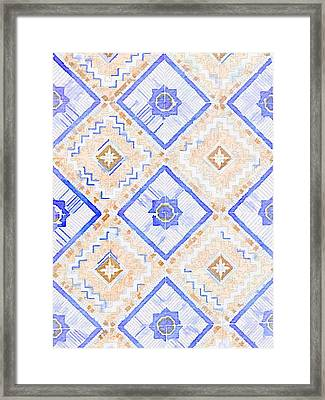 Watercolor Italian Ceramic Tile Framed Print by Ariane Moshayedi