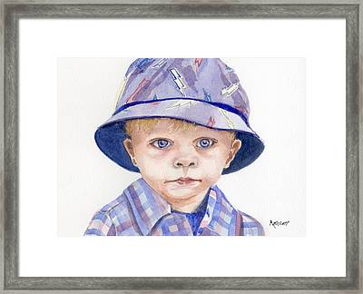 Lucas Framed Print by Marsha Elliott