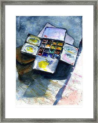 Watercolor Pallet Framed Print by John D Benson