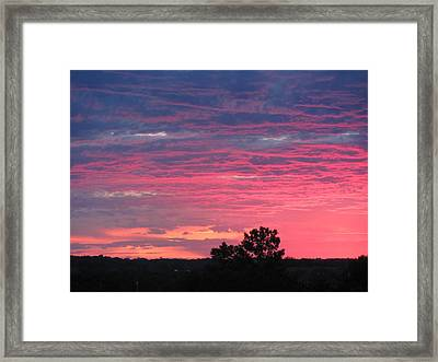 Watercolor Sunset Framed Print by Jerry Browning