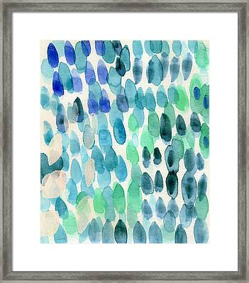 Waterfall 2- Abstract Art By Linda Woods Framed Print by Linda Woods