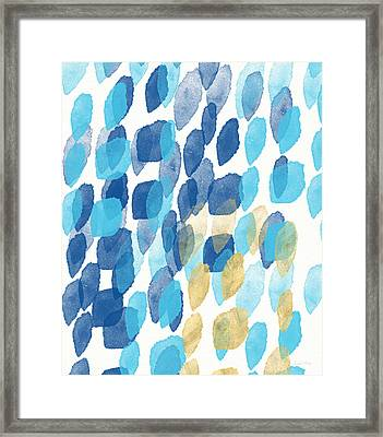 Waterfall- Abstract Art By Linda Woods Framed Print by Linda Woods