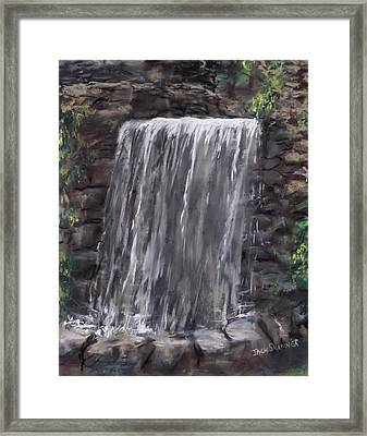 Waterfall At Longfellow's Gristmill Framed Print by Jack Skinner
