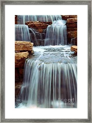Waterfall Framed Print by Elena Elisseeva