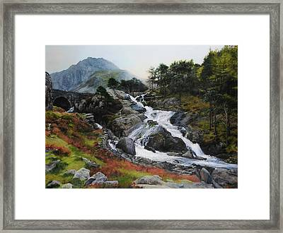 Waterfall In February. Framed Print by Harry Robertson