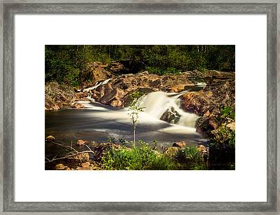 Waterfall In Marnardal Framed Print by Mirra Photography