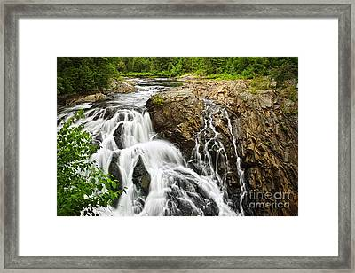 Waterfall In Wilderness Framed Print by Elena Elisseeva