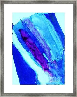 Waterfall Framed Print by Marsha Heiken