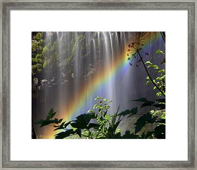 Waterfall Rainbow Framed Print by Marty Koch