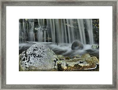 Waterfall Ribbons Framed Print by Stephen  Vecchiotti