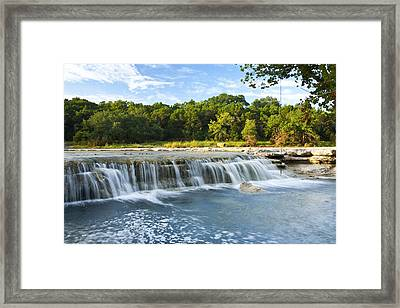 Waterfalls At Bull Creek Framed Print by Mark Weaver