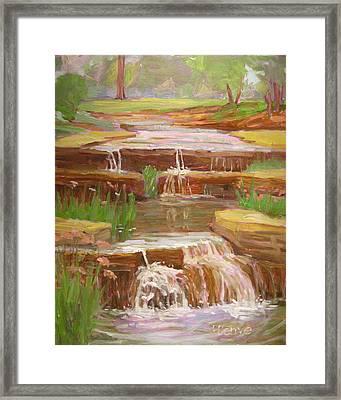 Waterfalls At Franklin Park Framed Print by Robie Benve