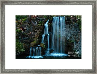 Waterfalls Framed Print by Clayton Bruster