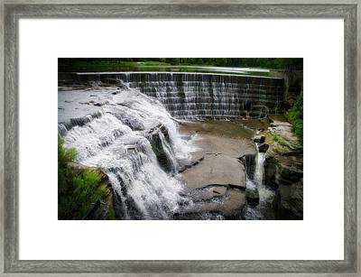 Waterfalls Cornell University Ithaca New York 06 Framed Print by Thomas Woolworth