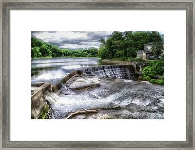 Waterfalls Cornell University Ithaca New York 07 Framed Print by Thomas Woolworth