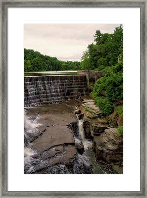 Waterfalls Cornell University Ithaca New York 08 Vertical Framed Print by Thomas Woolworth