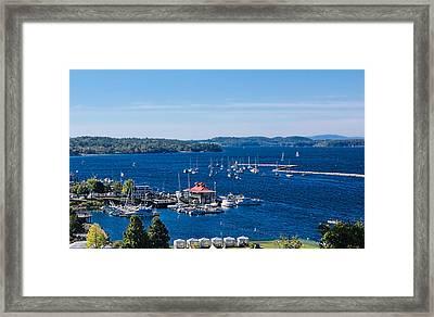 Waterfront Burlington Vermont Framed Print by William Alexander