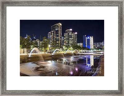 Waterfront Park Framed Print by Eddie Yerkish