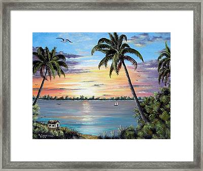 Waterfront Property Framed Print by Riley Geddings