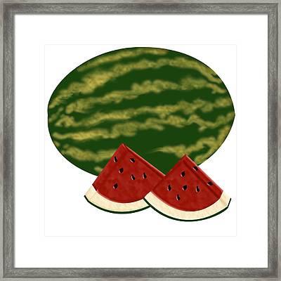 Watermelon Time Framed Print by Melissa Stinson-Borg