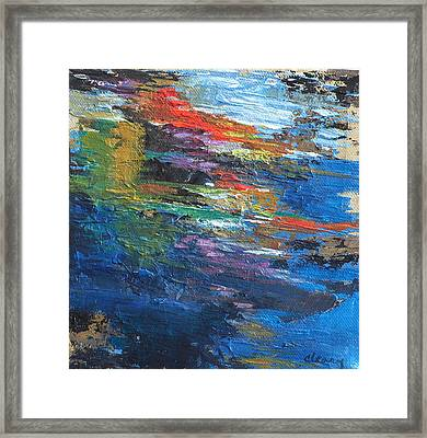 Water's Poetry  No. 4 Framed Print by Melody Cleary
