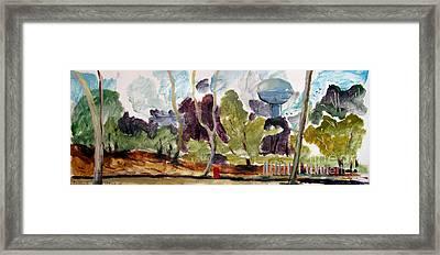Watertower From Maconaquah Park Framed Print by Charlie Spear