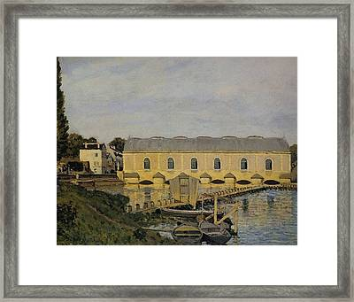 Waterworks At Bougival Framed Print by MotionAge Designs