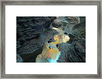 Watkins Glen Gorge  Framed Print by Jessica Jenney