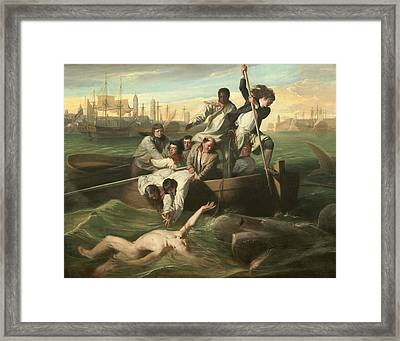 Watson And The Shark Framed Print by John Singleton Copley