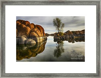 Watson Lake Arizona 12 Framed Print by Bob Christopher