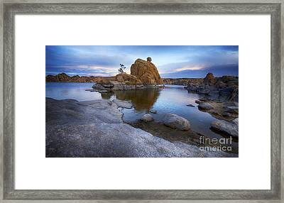 Watson Lake Arizona 14 Framed Print by Bob Christopher