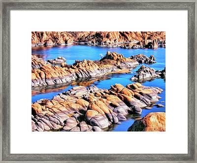 Watson Lake At Prescott Az Framed Print by Dominic Piperata