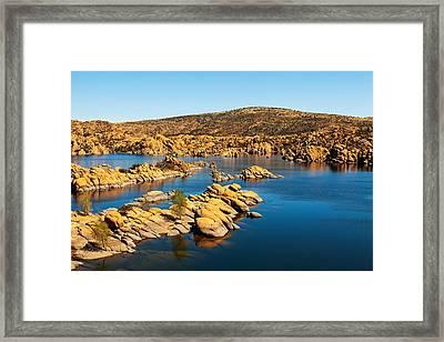 Watson Lake - Prescott Arizona Usa Framed Print by Susan Schmitz
