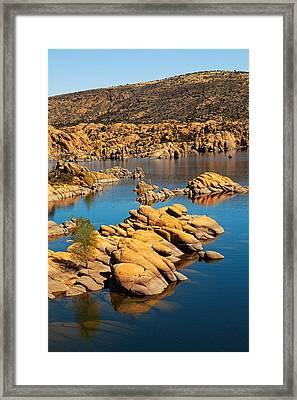 Watson Lake - Prescott Az Usa Framed Print by Susan Schmitz