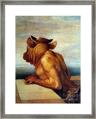 Watts: The Minotaur Framed Print by Granger