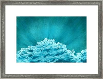 Wave Cloud - Sky And Clouds Collection Framed Print by Anastasiya Malakhova