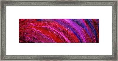 Wave Lengths Framed Print by Anne-Elizabeth Whiteway