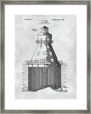 Wave Motor Patent Framed Print by Dan Sproul