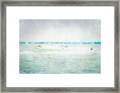 Wave Runners Framed Print by Colleen Kammerer
