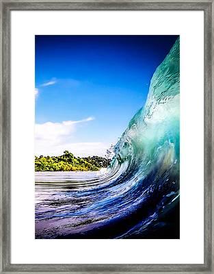 Wave Wall Framed Print by Nicklas Gustafsson