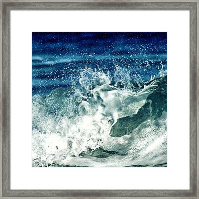 Wave2 Framed Print by Stelios Kleanthous